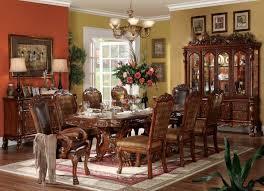 Wood Trestle Table Group Ornate Wood Dining Room Furniture Set Ornate Dining Room Table And Chairs