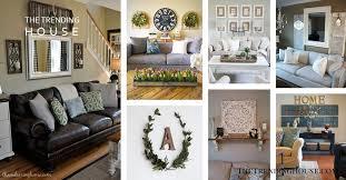 33 charming rustic living room wall