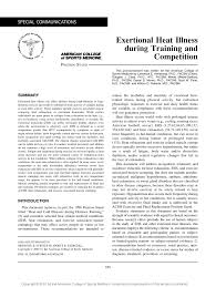 Heat Index Chart Sports Pdf American College Of Sports Medicine Position Stand