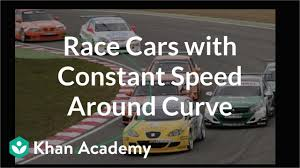 Race Cars With Constant Speed Around Curve Video Khan
