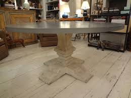 full image for gorgeous francesca zinc top round dining table 42 inch diameter creative ideas zinc