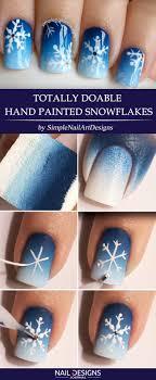 7 Easy Tutorials On Snowflake Nails Art | NailDesignsJournal