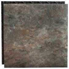 interlocking waterproof vinyl tile with built in underlayment 19 04 sq ft case