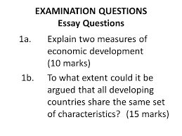 characteristics of developing countries ppt video online  examination questions essay questions