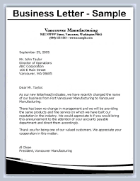 Business Correspondence Letters Examples Writing Busines Letters Scrumps