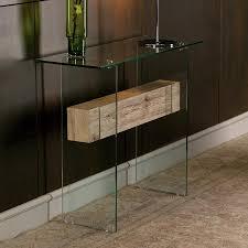 Image of: Glass Modern Foyer Table