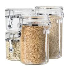 Designer Kitchen Canister Sets 28 Clear Canisters Kitchen Zak Designs Meeme Mini Stackable
