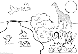 Small Picture Sunday School Creation Bible Coloring Pages