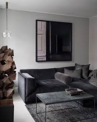 dramatic living room with black walls interior design living rooms walls and room