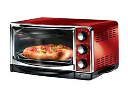 red 6 slice toaster oven oster countertop with air fryer