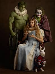 family portrait comic book and literary characters posed as in flemish paintings neatorama
