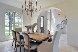 dallas french country chandeliers dining room shabby chic style with mismatched chairs victorian wall mirrors antique chandelier