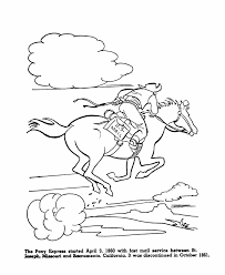 Small Picture USA Printables The Pony Express US History Coloring Pages