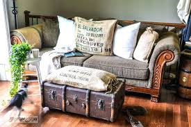 turn a vintage trunk into a coffee table how