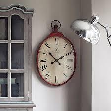 vintage clock red wall clock