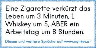 Eine Zigarette Verkürzt Das Leben Um 3 Minuten 1 Whiskey Um 5 Aber