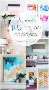 Diy Artwork For Walls 13 Creative Diy Abstract Wall Art Projects Lolly Jane