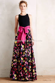 Women Casual One Piece Dress In Floral Print Fancy New Design Maxi