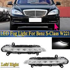 2013 Mercedes C250 Daytime Running Lights 1pcs L R Led Drl Daytime Running Light Fog Lamp Fit For