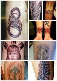 рунические тату в последнее время руны вошли в моду то ли от того