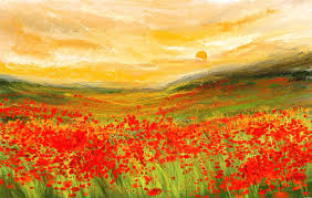 poppies painting field of poppies field of poppies impressionist painting by lourry legarde