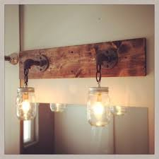 Rustic Bathroom Vanity Lights Magnificent Rustic Industrial Modern Mason Jar Light Vanity Light Wall Etsy