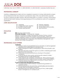 Resume Professional Summary Professional Summary for Students Resume Cover Letter 63