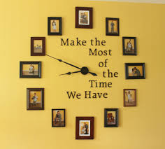 this diy photo wall clock will make a gorgeous centerpiece to your favorite room display