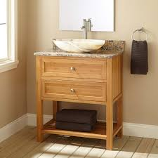 unique light brown oak wood barrel vanity cabinet with round remarkable knotty pine bathroom open storage shelves under small drawer integrated