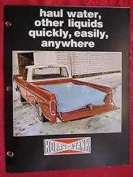 1974 KOLAPS-A-TANK PICKUP TRUCK WATER TANK / BAG LITERATURE BROCHURE ...