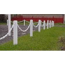 white chain garden fence pack