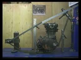 building a yamaha xs650 custom chopper bobber hardtail frame