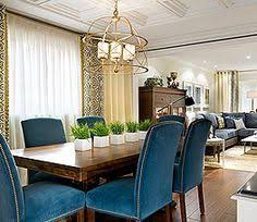 the chairs look fortable maybe even a bit bolder on color or brighter blue dining roomseclectic