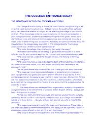 college essays successful college essays