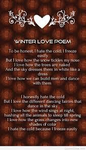 nice winter love poem free