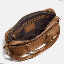classic coach mens bleecker slim business briefcase 2way brass fawn leather laptop bag eefgtdzv larger image