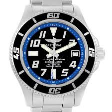new arrivals watches 06 2017 breitling superocean 42 abyss black blue dial steel mens watch a17364 stock number 14274