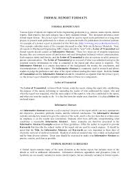 8 Formal Report Template Examples Pdf Examples