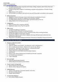 Accounting Firm Resumes Best Experienced Ca Resume Sample Charted Accounts