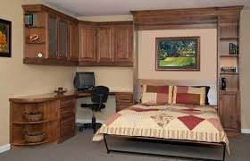 office bed. Custom Home Office, Guest Room Makeover, Vertical Queen Murphy Bed Installed, Cabinetry Office