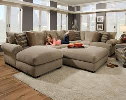 Living Room Gorgeous Big Comfortable Sectional Couches For Your