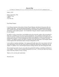 Cover Letter For Product Manager Position Cover Letter For Project Manager Levelings