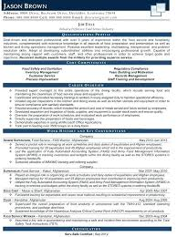Food Service Certification Resume Objective For Food Service