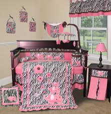 pink zebra baby bedding set 13 pieces
