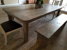 round edge distressed farm table 4 8 gray weathered oak mix