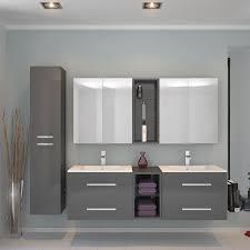 double vanity unit 284 29 contemporary sonix wall hung basin grey