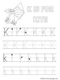 Letter K Tracing Worksheet 1 letter k tracing worksheet on complete subject worksheets