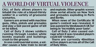 essay about violent video games how to write a critical essay on  coroner warns of call of duty video game danger after boy a world of virtual violence