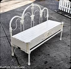 Metal Bedroom Bench Bench Made Out Of Old Metal Headboard Recycle Pinterest