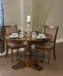 Amish Pedestal Dining Table Round Traditional Country Solid Wood